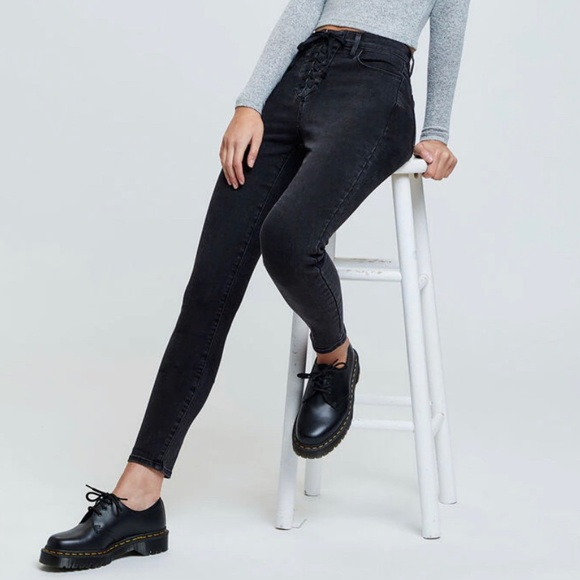 PacSun Straddle Super High Rise Jegging Lace Up